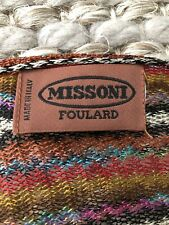 MISSONI Foulard Chevron Zig Zag Knit Fringe Scarf