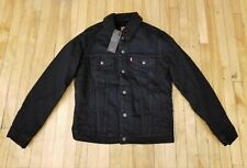 NEW WITH TAGS LEVIS SHERPA TRUCKER JACKET BLACK 1636501000 FOR MEN