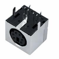 PS/2 6 pin Mini DIN enchufe hembra conector PCB Jack de placa base de ordenador