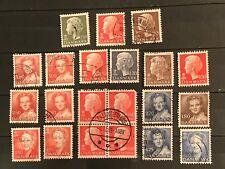 Denmark postage stamps lot of 21 Princess Margrethe old M