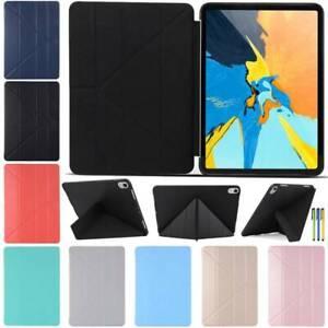 Folding Smart Stand Cover Silicone Case for iPad 2 3 4 5 6 2018 mini Air Pro 11