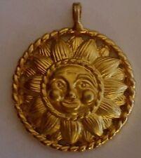 Designer Gold Tone Lion Pendant Lion King Of Jungle Egyptian Round Pendant