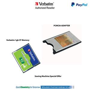 1GB Compact Flash CF Memory & PC card PCMCIA Adapter JANOME