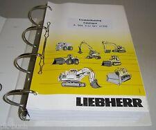 Ersatzteilkatalog Pièces de Rechange Liebherr Bagger A 904 C-LI Stand 07 / 2004