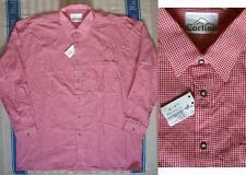 43-44 Maschinenwäsche Herren-Trachtenhemden aus Baumwolle