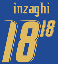 Italy Inzaghi Nameset 2006 Shirt Soccer Number Letter Heat Print Football Home