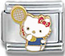 Italian Charm Hello Kitty Tennis Raquette Court