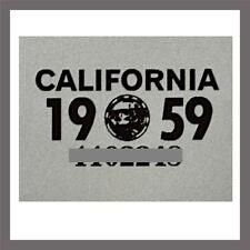 1959 California Yom DMV Car Truck Trailer License Plate Sticker / Tag Ca 1956/59
