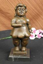 Bronze Sculpture After Fernando Botero European Bronze Foundry Vintage Figurine