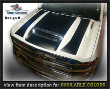 2017, 2018 - Chevrolet Silverado 2500HD 3500HD Diesel Hood Decal Blackout Kit B