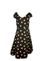 NWT Princess Highway Womens Size 14 Polka Dot Midi Cap Sleeve Dress