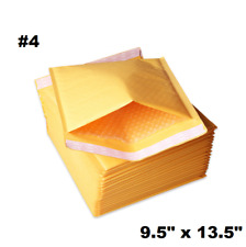 "100PCS #4 9.5x14.5"" Golden Kraft Bubble Padded Shipping Envelope Mailers Bag"
