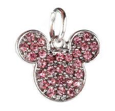 925 Silver Cartoon Pink CZ Charm Beads Fit European Charm Bracelet Pendant #A373