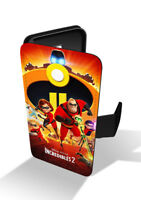 The Incredibles 2 Disney Superhero Family Wallet Leather Phone Case