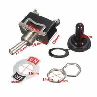 Heavy Duty ON/OFF Small SPST Toggle Switch Miniature + Waterproof Cover 12V New