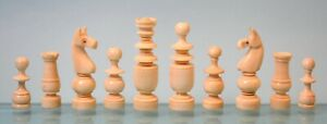 A French Bone Regence Pattern Chess Set & Elm Wood Games Board