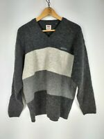 LEVI'S MAGLIONE VINTAGE in PURA LANA VERGINE Cardigan Sweater Pullover Tg XL Man