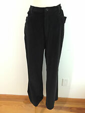 "TravelSmith Pants Trousers Ribbed Black Velour ""Corduroy"" Size 12"