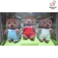 New Sylvanian Families chocolate Labrador triplets of baby from Japan