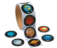 Pack of 100 - Space Solar System Stickers - Party Bag Fillers Teacher School