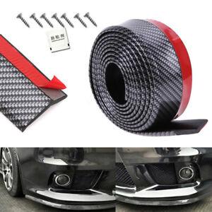 2.5M Universal Carbon Fiber Car Front Bumper Lip Splitter Valance Chin Protector