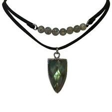 Kirks Folly Temple of Stars Labradorite Leather Choker Necklace
