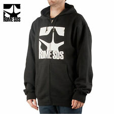 ROME SDS Snowboard Logo Full Zip Hoodie Black NEW NWT RT:$65 70€ Skate