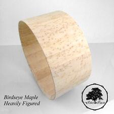 Birdseye Maple Stave Snare Drum Shell 14x6.5, Heavily Figured, Edges