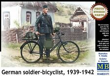 GERMAN SOLDIER-BICYCLIST 1939-1942 (W/ MG34 & AT MINE) 1/35 MASTERBOX BRAND NEW