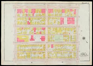 1910 G.W. BROMLEY SOUTH BOSTON, MA BIGELOW & NORCROSS SCHOOLS  C ST - E ST MAP