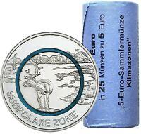 Deutschland 25 x 5 Euro 2020 Subpolare Zone - Münzen in Rolle