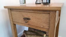 Solid Oak Bedside Table Handmade