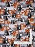 Kitty Cat Feline Kitten Toss Black Cotton Fabric Benartex #8065 Cat Nip ~ YARD