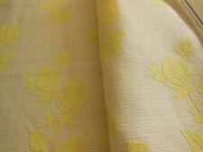 B4 ancien tissu coton faconné jaune effet toile matelas 83  cm  25 cm année 50