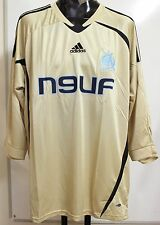 OLYMPIC MARSEILLE 2008/09 GOLD 3RD SHIRT BY ADIDAS SIZE ADULTS XL BRAND NEW