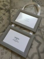 Light Grey and White Ribbon Photo Picture Frame Up To 6 Frames Modern Classical