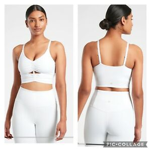New! Athleta Cinch Longline Bra D-DD White Size Medium #981468