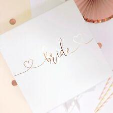 Bride Gift Box ROSE GOLD Personalised bride to be keepsake luxury present box