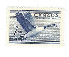 1952 Canada Goose 7c stamp blue MNH