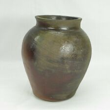 D278: Real old Japanese ECHIZEN stoneware vase w/typical and good natural glaze