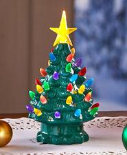 Retro Lighted Tabletop Christmas Trees