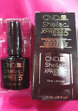 CND Shellac Xpress5 Top Coat LED Gel Nail Polish Express 5 MIN REMOVAL .25oz BOX
