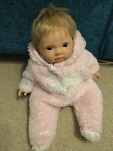 Tiny Treasures Baby Girl Doll Dressed In Pink Sleep suit