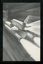Space chrome postcard Space Shuttle Rockwell International NASA