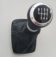 VW Golf 4 Bora original R32 Leder Schaltknauf Schaltgriff gelocht Schaltknopf