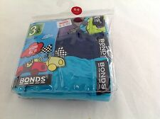 Bonds Kids Underwear 3 Pairs In 1 Pack, Size 6 -8 Years Old, Cotton Rich