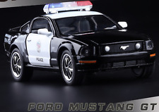 Mustang GT Police Car Metal Gift Kids Toy Metal Diecast Pullback Vehicle Model