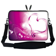 "17.3"" Laptop Computer Sleeve Case Bag w Hidden Handle & Shoulder Strap 832"