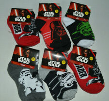 Lot 6 Pair Star Wars/Vader/Yoda Toddler Boy Socks Size 5-6.5 Shoe 5.5-8.5