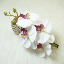 Women Butterfly Orchid Flower Hair Clip Bridal Wedding Party Barrette Pin Hot